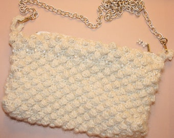 "Crossbody bag ""Silk and pearls"""