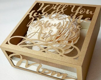 Will you walk me down the aisle -  unique personalized proposal gift box