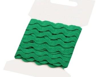 Green Ric Rac Ribbon Decorative Trim - 5mm x 3 Metres