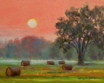 ORANGE SKY, an original oil painting by DJ Lanzendorfer