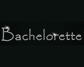 Rhinestone Transfer - Hot Fix Motif - Bachelorette - Papyrus