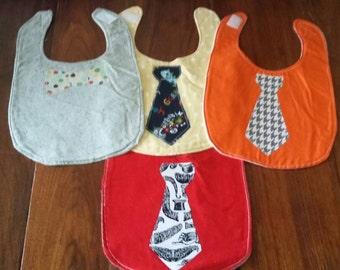 Set of 4 Boys Infant Tie Bibs