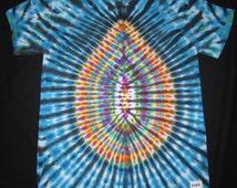 M60 Psychedelic Turtle Egg, Tie Dye T-shirt, Fits Adult Unisex Medium