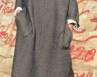 Plus Size Cotton Dress/Casual Maxi Dress, Loose Dress/Extravagant Dress/Trendy Dress/Oversize Dress