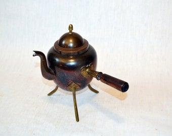 Rare Vintage Teapot Brass Copper