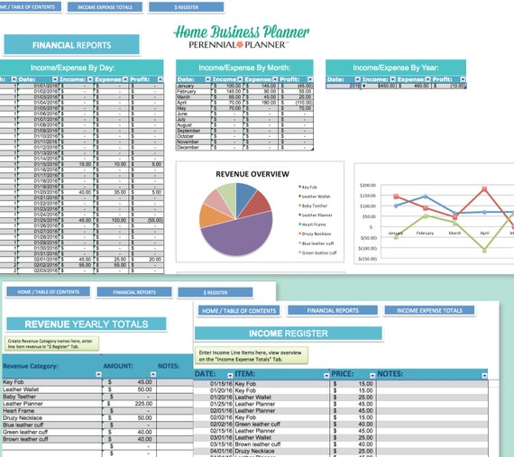 home expenses excel