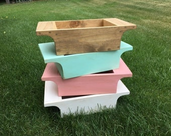 Newborn baby Girl or boy Photography Prop Wooden Trencher Box