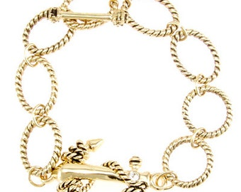 Anchors Away Twisted Chain Bracelet