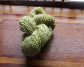 Hand spun, lichen dyed, Cheviot, single, bulky 167 yards, ,sustainably harvested,made in usa