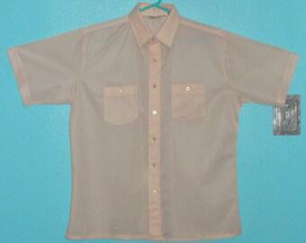 Mcgregor 1980 39 s polyester men 39 s button up shirt size for Polyester button up shirt