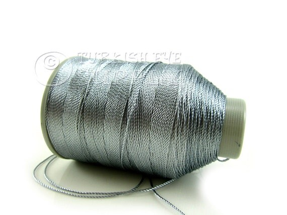 Gray Polyester Thread Embroidery Threads 1 One Spool Of