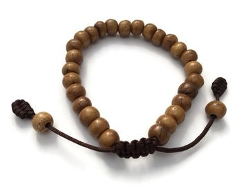 Tibetan Brown Bone Adjustable Wrist Mala Bracelet