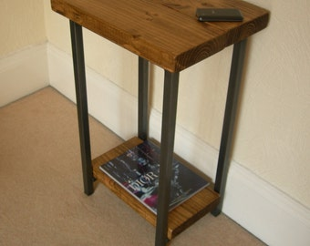 Hallway console table, lamp table or telephone table rustic industrial