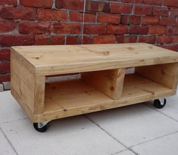 Industrial Tv Stand And Coffee Table: Tv Stand With Cast Iron Industrial Swivel By