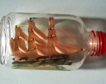 Vintage Minature Ship in a Bottle