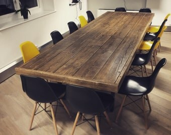 "Reclaimed Wood ""Jules"" Boardroom / Dining Table"