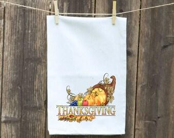 Kitchen Towel-Flour Sack-Holiday-Towel-Tea-Dish-Hand-Kitchen-Personalized-Custom-Happy Thanksgiving
