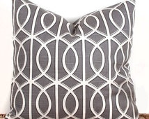 SALE ENDS SOON Gray Swirl Pillow Case Cover, Custom Pillow Case, Porch Decorating Ideas, 16 x 16