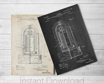 Poulsen Recorder Printables, Sound Art, Invention, Music Lover Gift, Recording Studio, PP0318