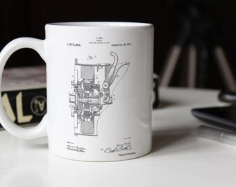 Clutch Patent Mug, Henry Ford, Car Part Mug, Car Enthusiast, Garage Mug, PP0836