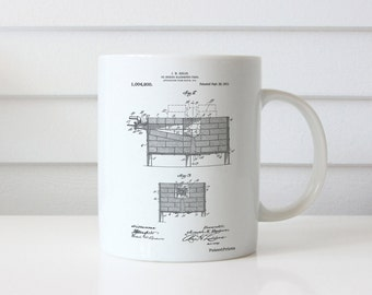 Blacksmith Forge Patent Mug, Barn Decor, Metal Work, Blacksmith Tools, Blacksmith Made, PP0742