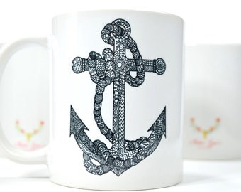 Abstract  Anchor 11oz Mug