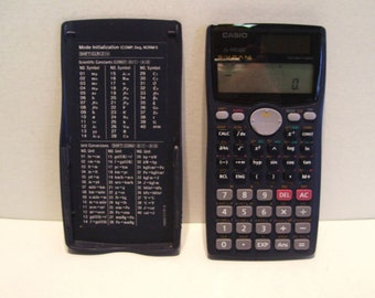 Vintage CASIO Scientific Calculator fx-991MS with Sliding Case Works Perfectly