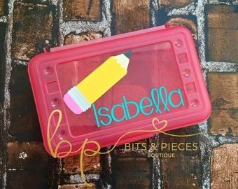 Personalized Back to School Pencil Box