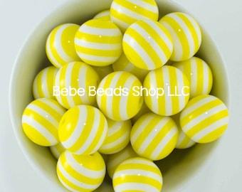 20mm Stripes - Yellow