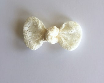 Knot Bow Ivory Lace