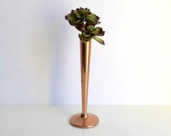 Copper Bud Vase