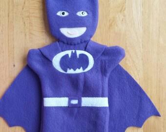 Purple Batman Hand Puppet