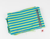 "3/8"" Lime & Blue Stripe 