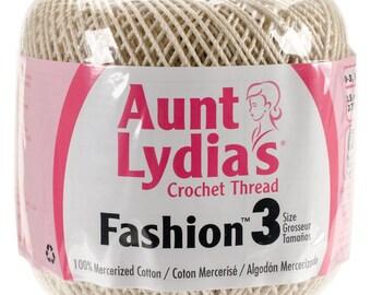 Bridal White Crochet Thread size 3, Aunt Lydias Fashion, MoonDancer Crafts, Bridal White Crochet Knitting Tatting Craft thread
