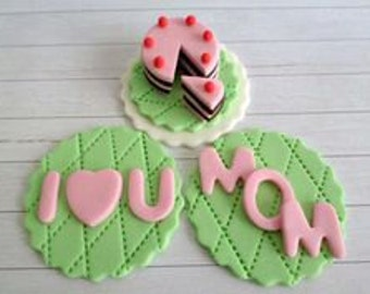 Mothers Day Cupcake Toppers (1 Dozen)