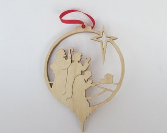 Christmas Tree Decoration - hand cut using a Scroll saw