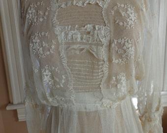 Antique Victorian Lawn Dress