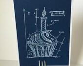 Cupcake Blueprint Card