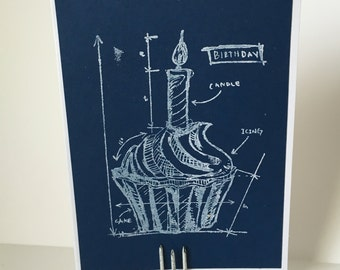 Blueprint etsy cupcake blueprint card malvernweather Gallery