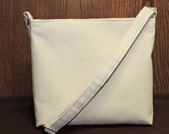 Canvas Conceal Carry Purse/Handbag/Tote/CCW/Natural Beige Canvas
