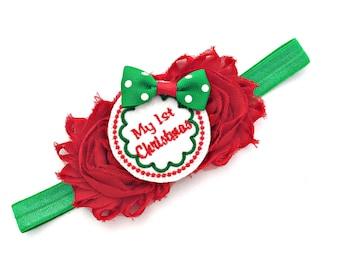 My 1st Christmas, First Christmas, 1st Christmas, Baby First Christmas, Baby 1st Christmas, Christmas Headband, Christmas Hair Bow