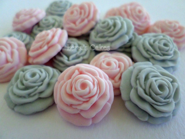 Edible Wedding Favor Cupcake Cake Fondant Flower Candy Rose