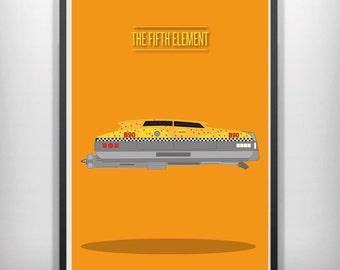 The fifth element minimal minimalist movie film print poster
