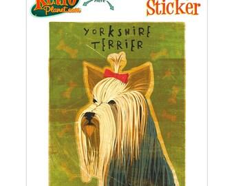 Yorkshire Terrier Dog Vinyl Sticker - #63676