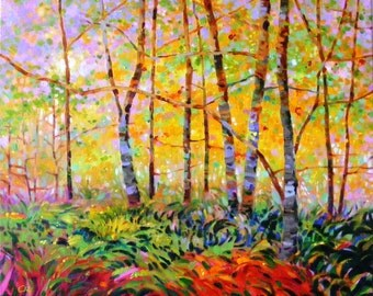 Serenade of forest, Original oil painting, 16 x 20 in.