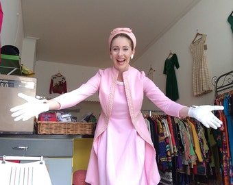 PRICE REDUCED 1960s 1970s pink coat