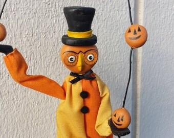 Halloween Folk Owl Figurine SALE