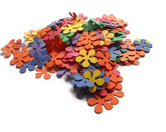 Rainbow Confetti - Flower Confetti - Party Confetti - Made to order