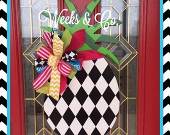 Pineapple Door Hanger Front Door Decor Southern Welcome