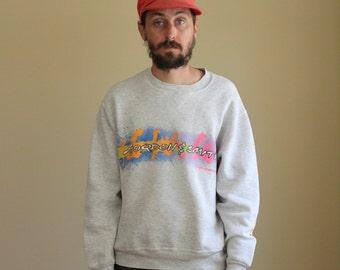 Neon Vintage Snowboarding Sweatshirt Mens Medium